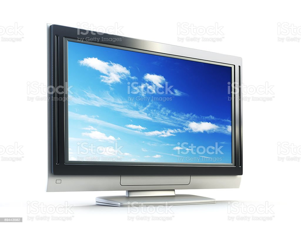 Plasma TV royalty-free stock photo