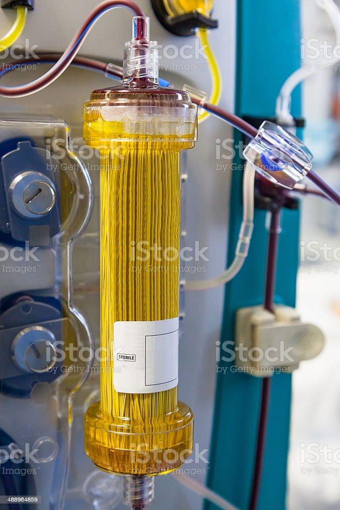 Plasmafiltration (blood purification procedure) stock photo