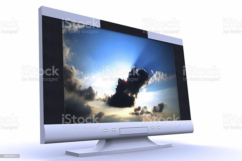 PlasmaTV royalty-free stock photo