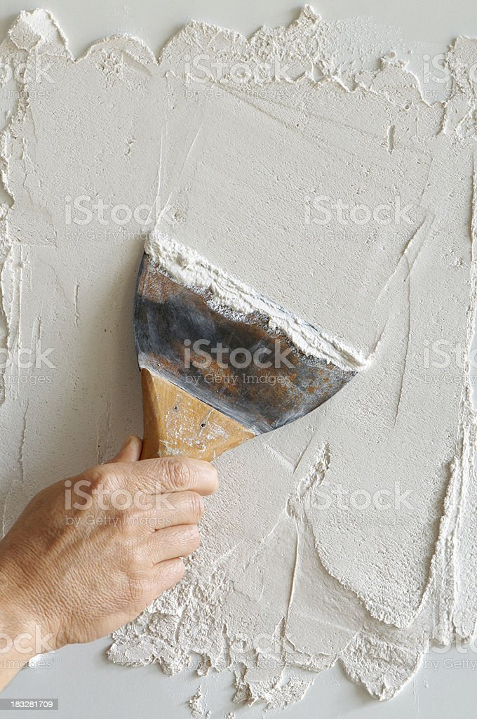 plaster application royalty-free stock photo