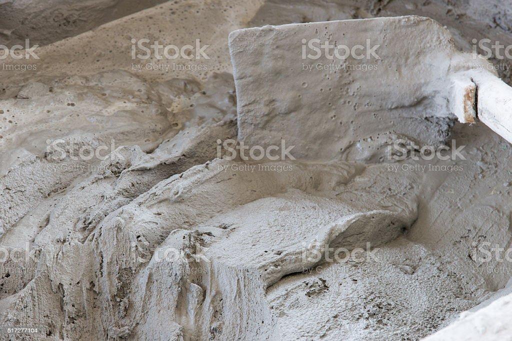 Plaster cement stock photo