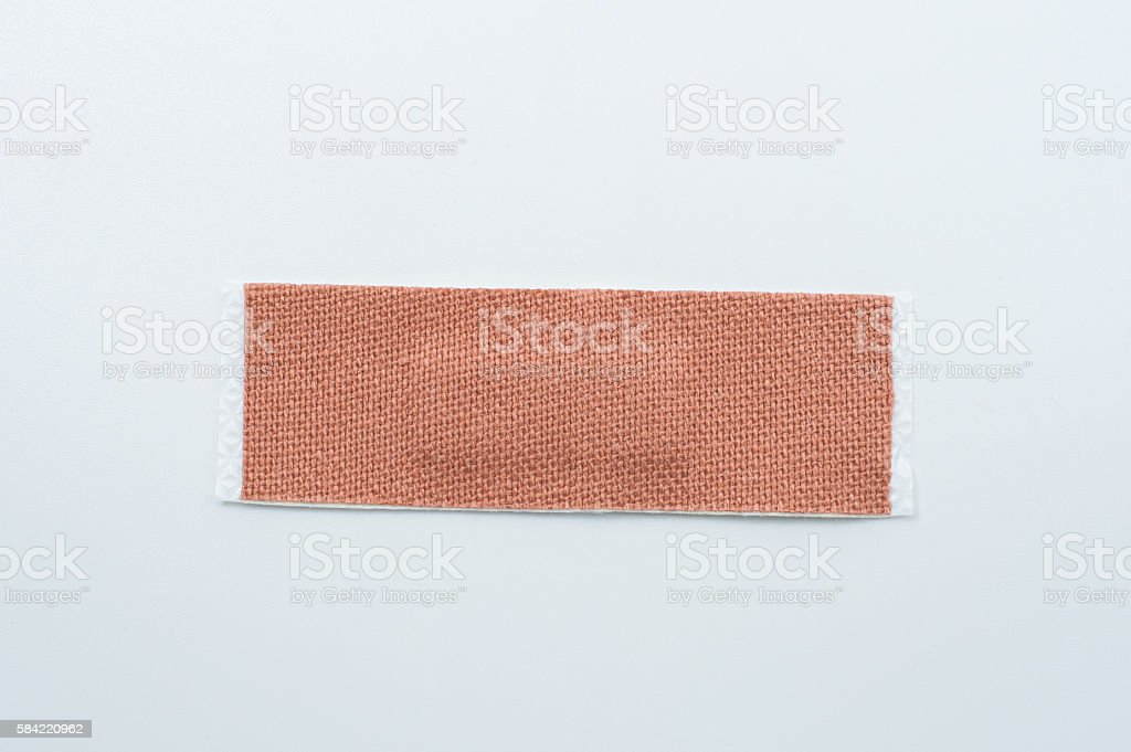 plaster isolated over a white background stock photo