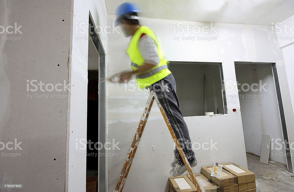 Plaster master stock photo