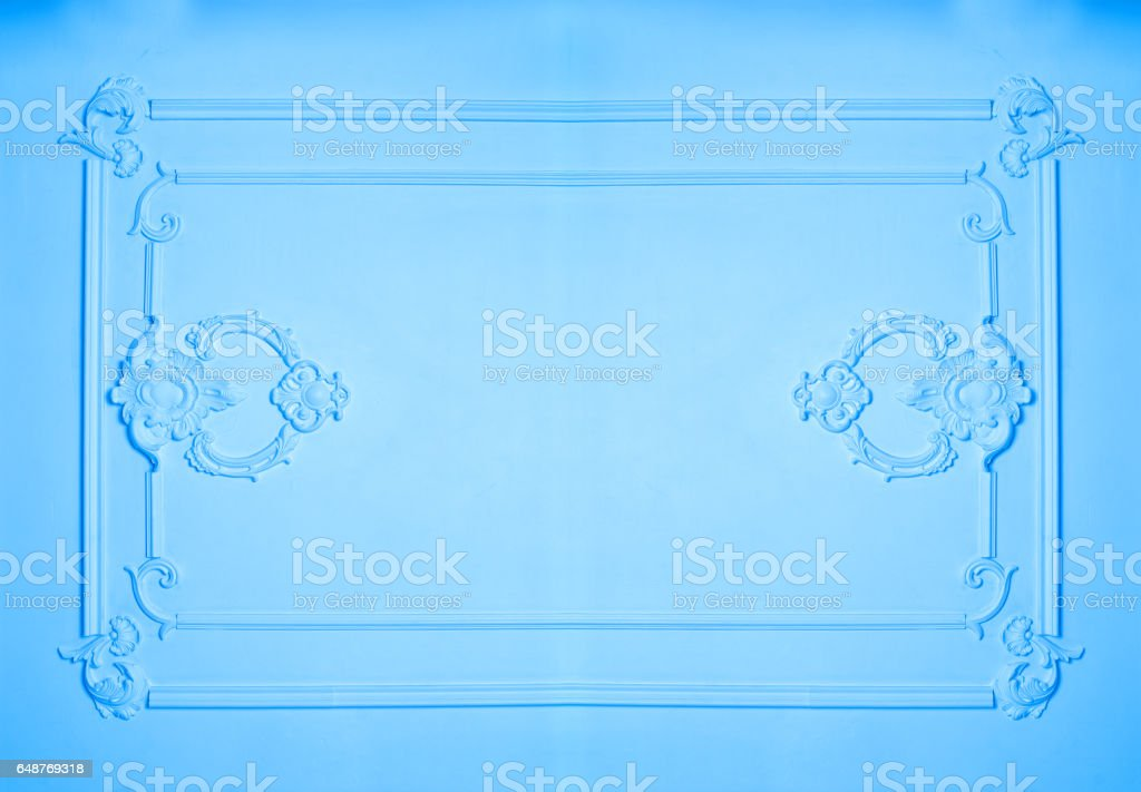plaster molding on the wall and place for text stock photo