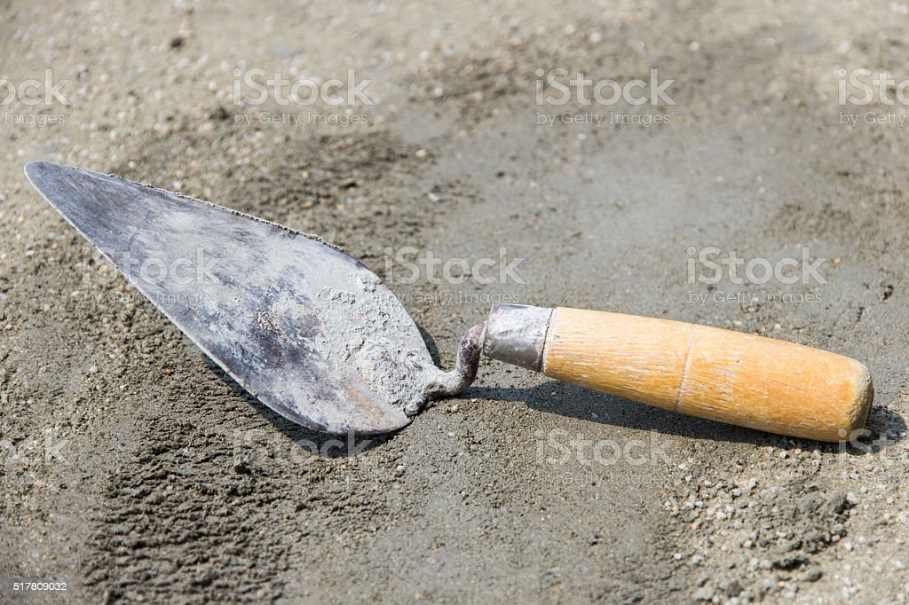 plaster tool stock photo