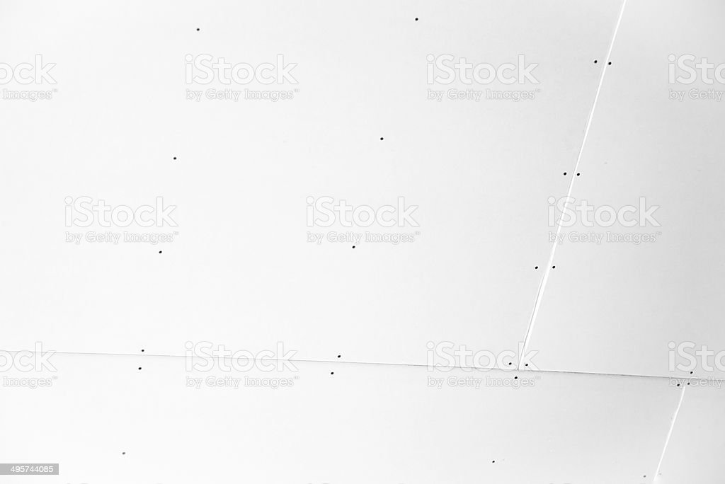 Plasterboard wall construction stock photo