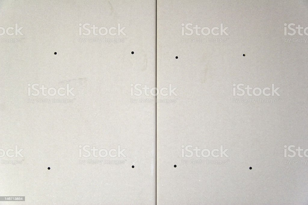 plasterboard wall stock photo