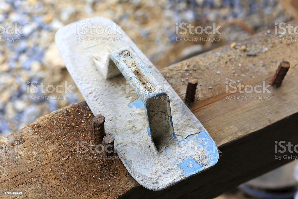 plasterer concrete royalty-free stock photo