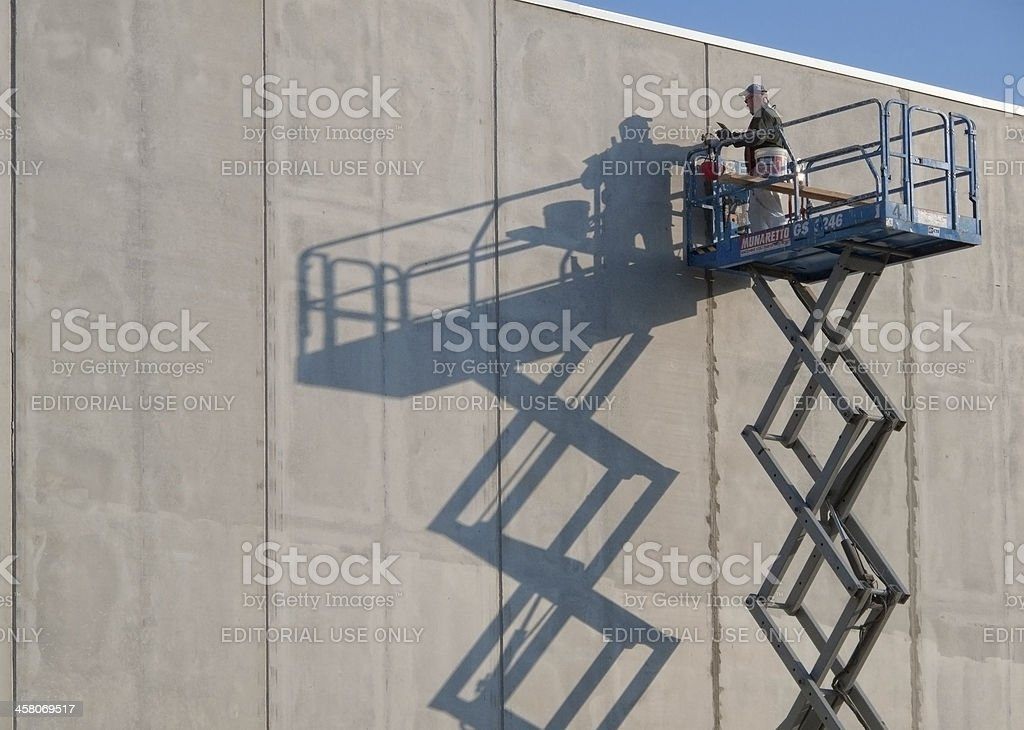 Plastering stock photo