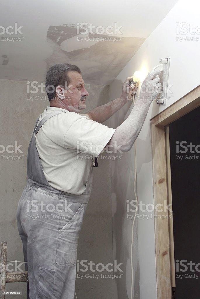 plastering royalty-free stock photo