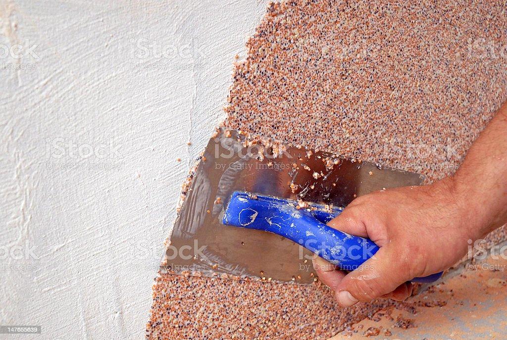 plastering tool royalty-free stock photo