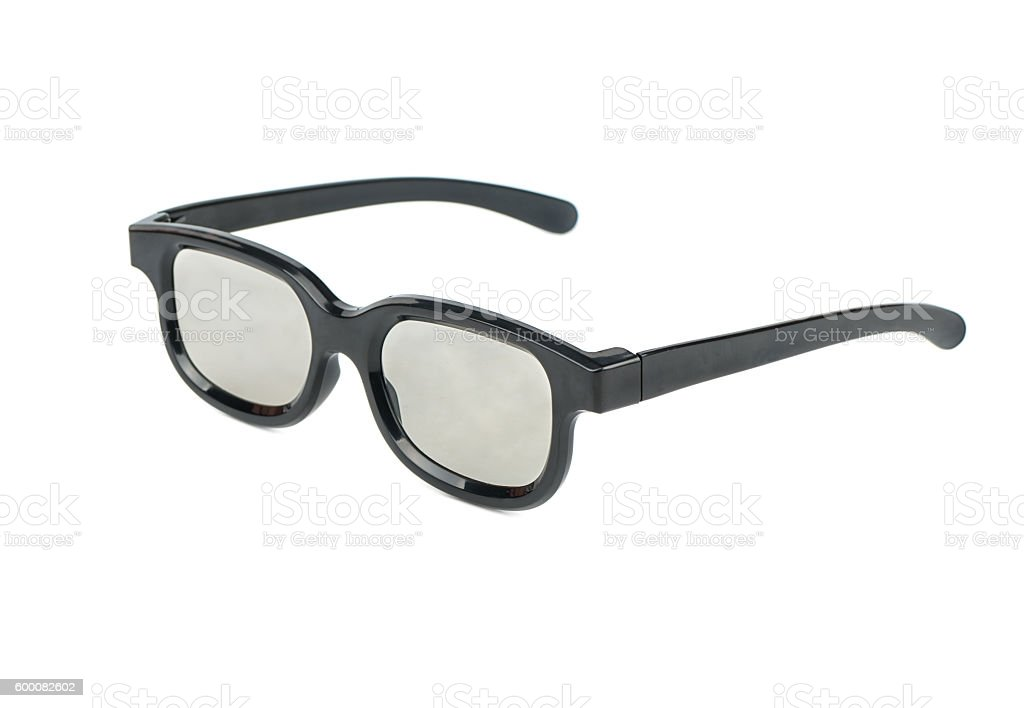 Plastic 3D glasses stock photo