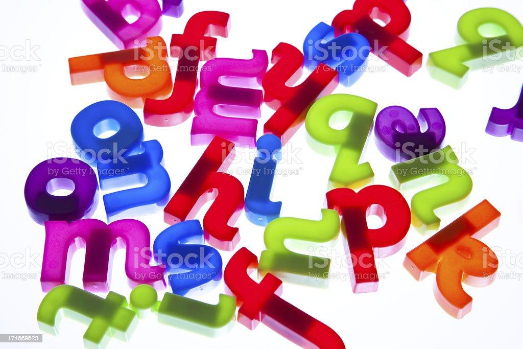Plastic alphabet letters royalty-free stock photo