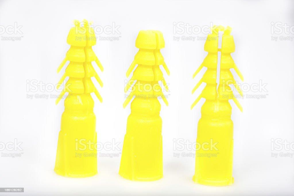 Plastic Anchors royalty-free stock photo