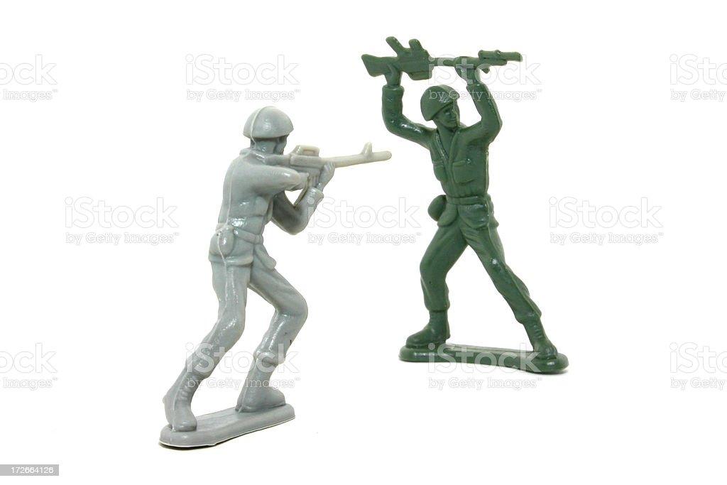Plastic army men royalty-free stock photo