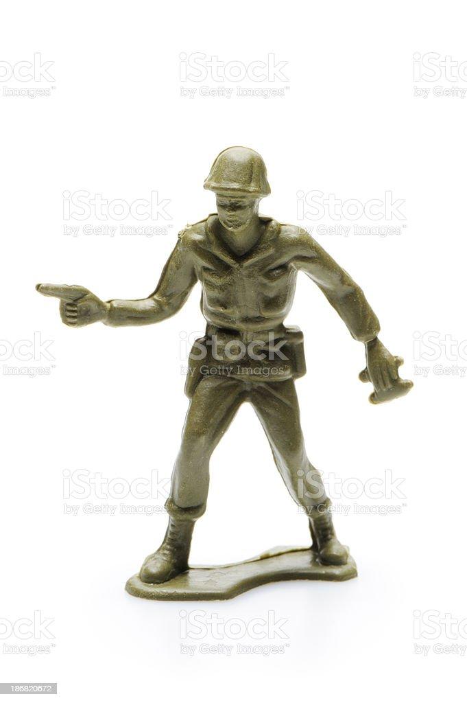 Plastic army men stock photo