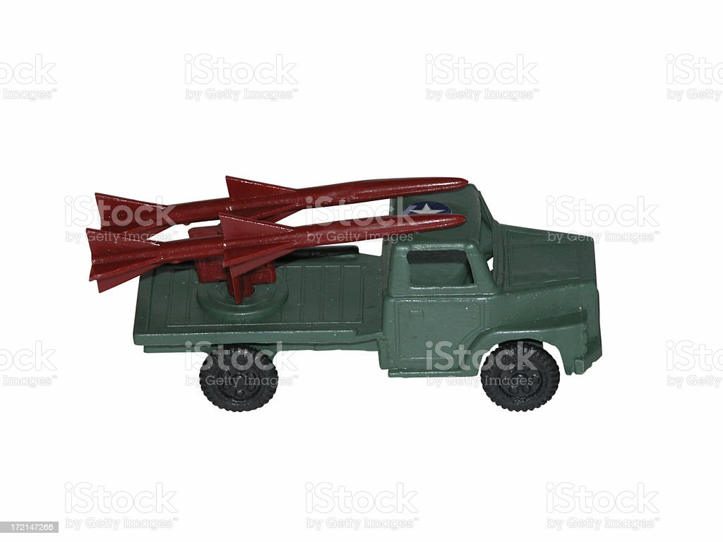 Plastic  Army Truck w/ path royalty-free stock photo
