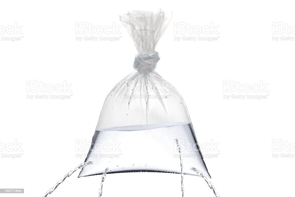 Plastic bag with holes royalty-free stock photo