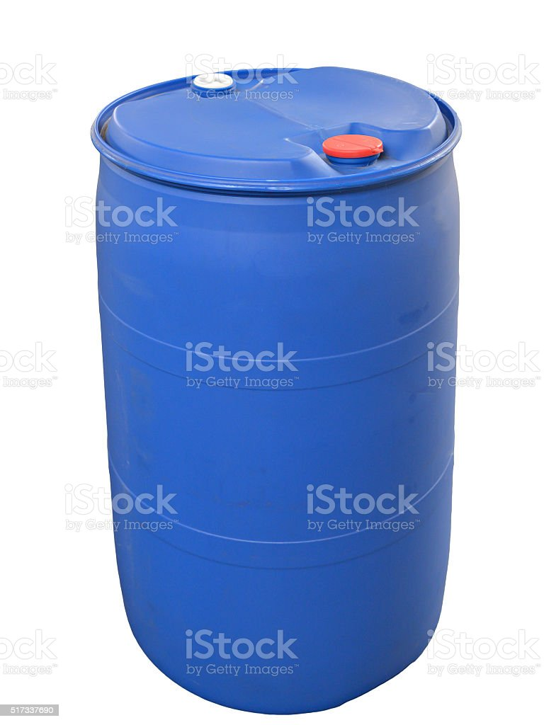 Plastic Barrel isolated on white stock photo