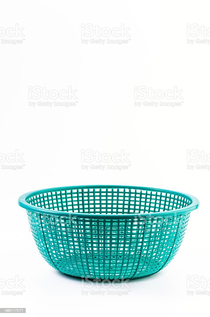 Plastic basket stock photo