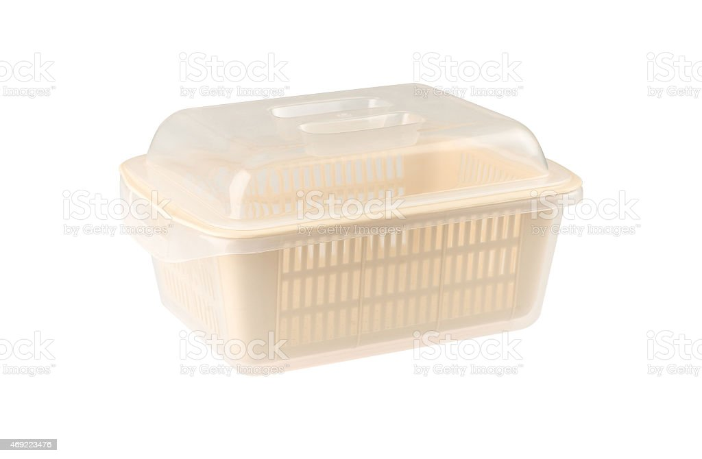 plastic basket with a lid stock photo