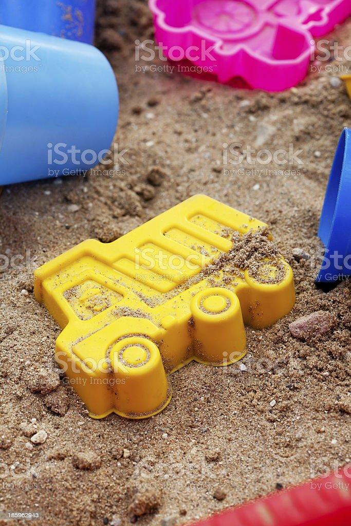 Plástico brinquedos de praia foto royalty-free
