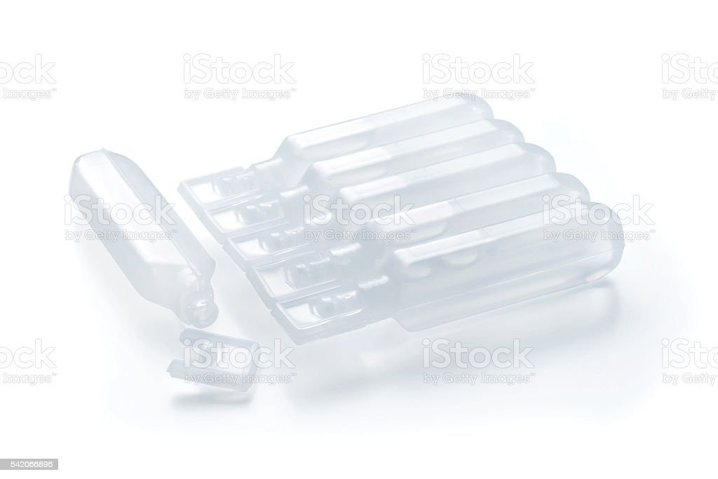 Plastic BFS ampules stock photo