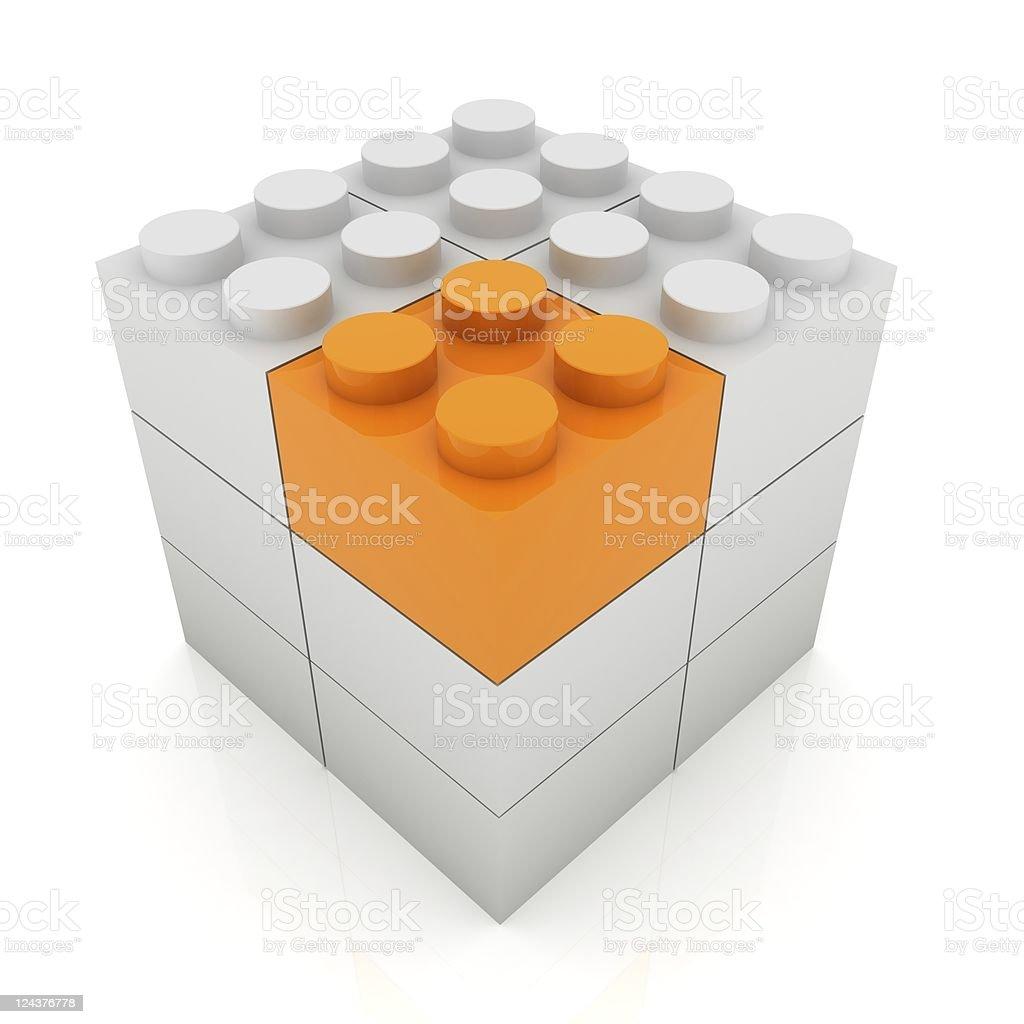 Plastic Blocks royalty-free stock photo