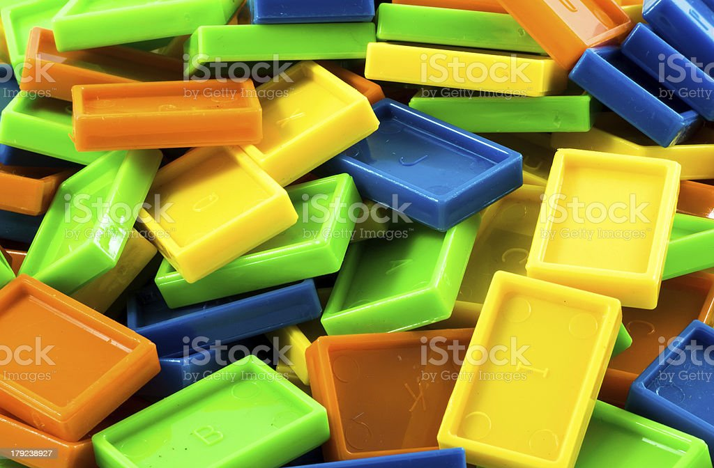 Plastic blocks royalty-free stock photo
