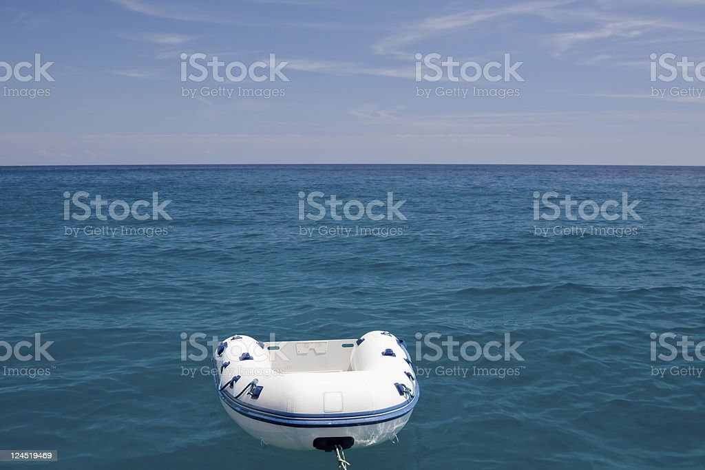 Plastic boat royalty-free stock photo