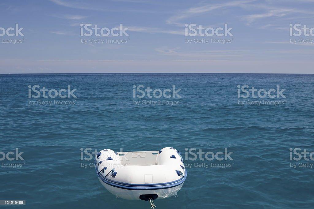 Plastic boat stock photo