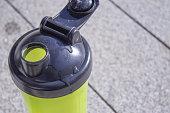 Plastic bottle for drinking shaker of sportsmen