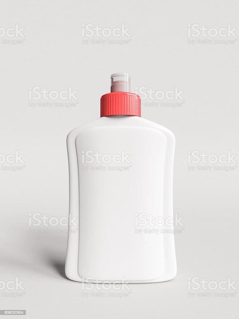 Plastic bottle Mockup. 3D illustration stock photo