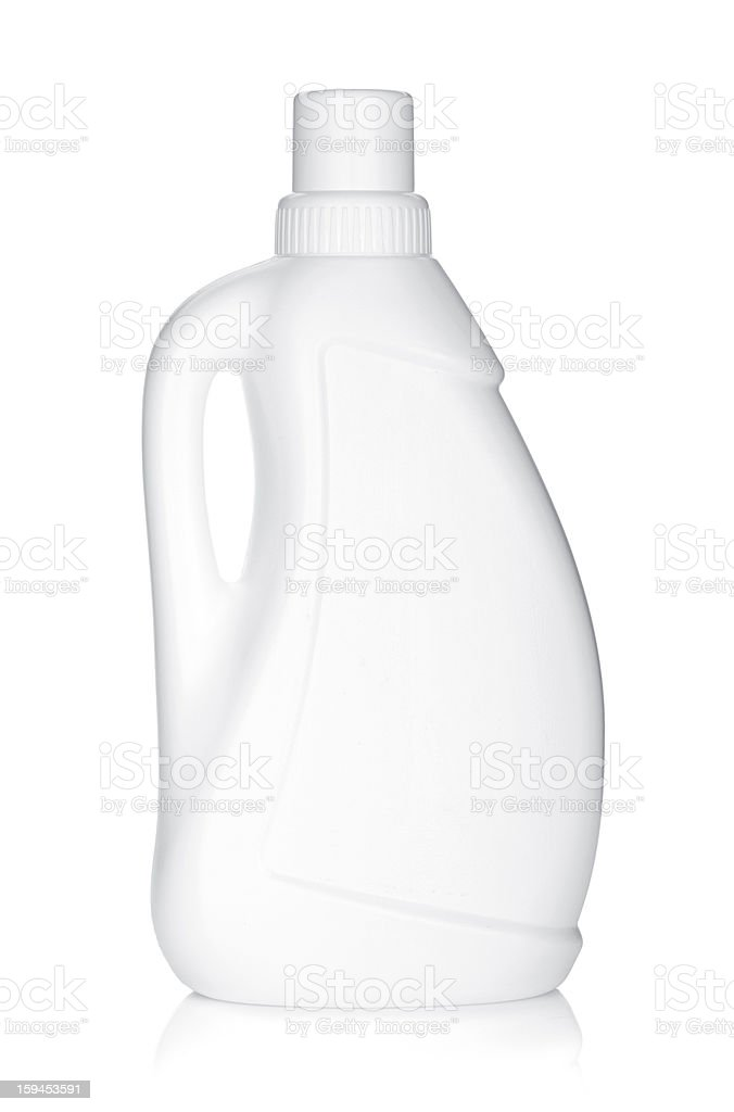 Plastic bottle of cleaning product stock photo