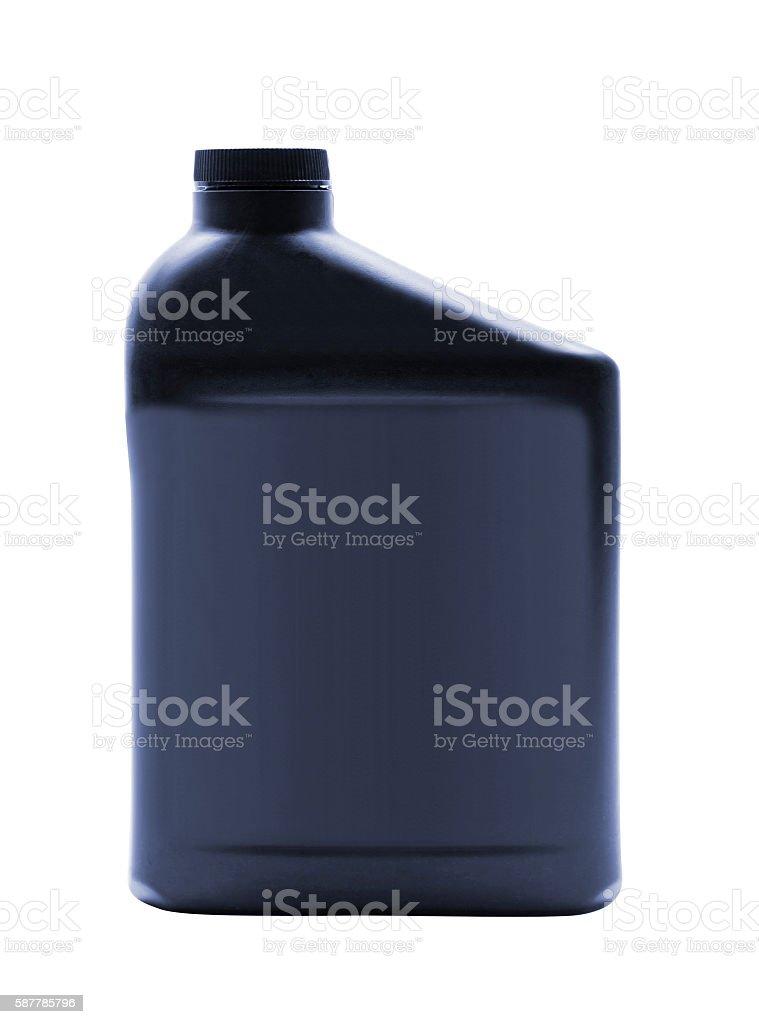 plastic bottle of motor oil stock photo