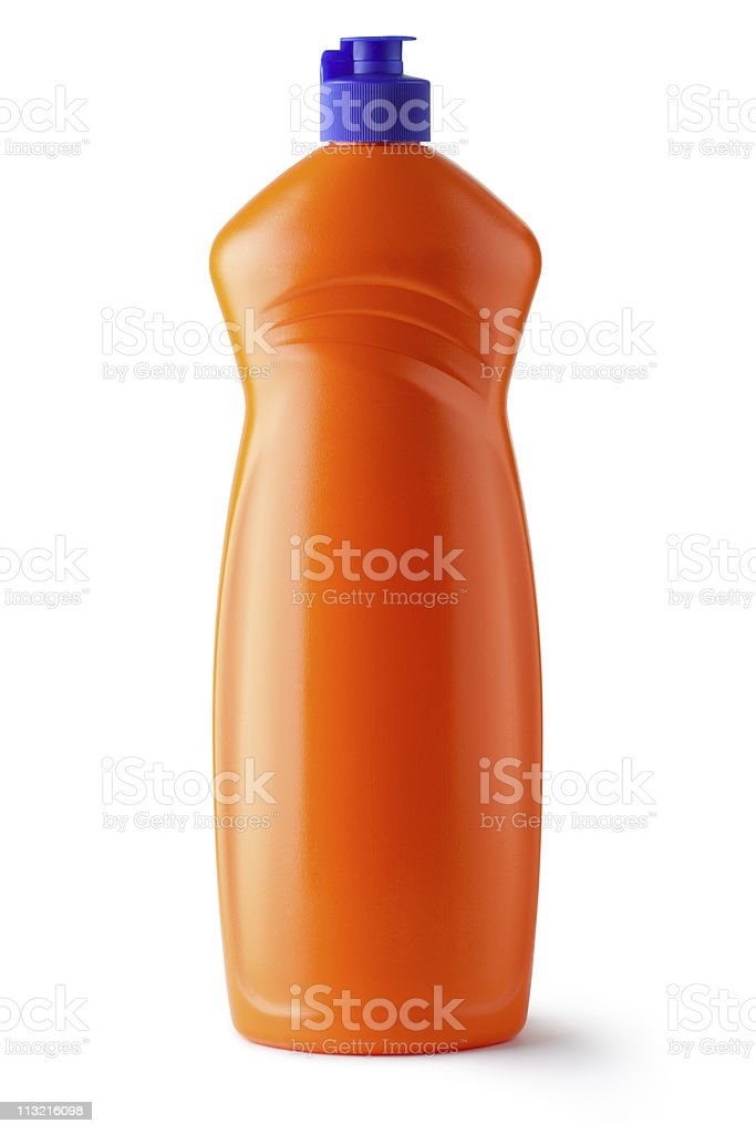 Plastic bottle with cleaning liquid royalty-free stock photo