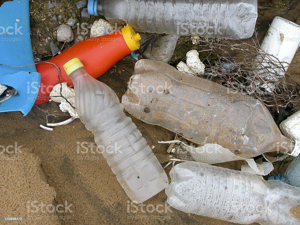 Plastic bottles, close-up, Istanbul, Turkey royalty-free stock photo