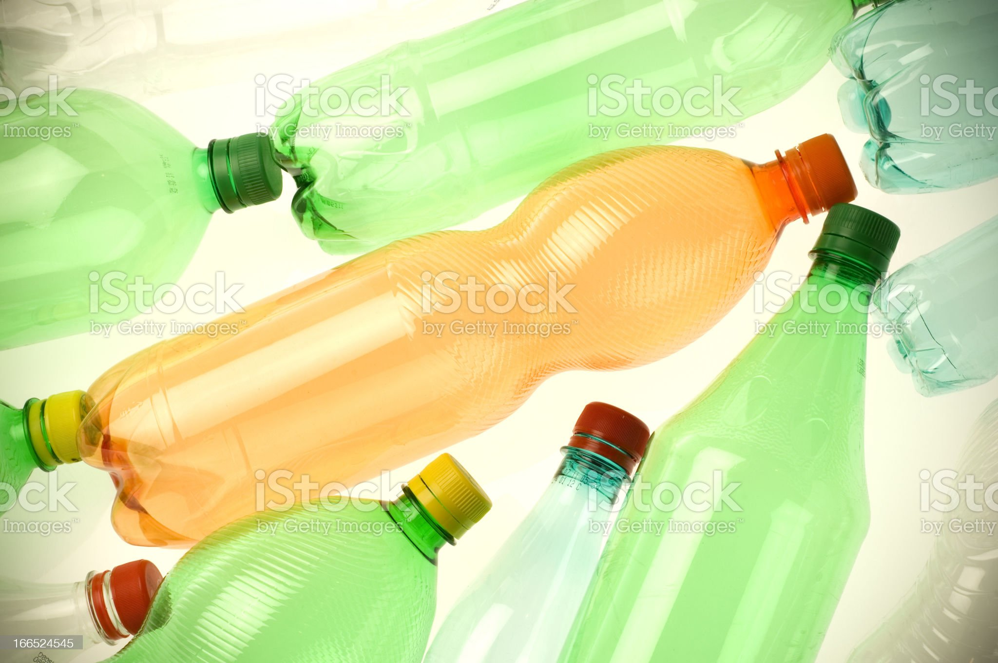 Plastic bottles for recycling royalty-free stock photo