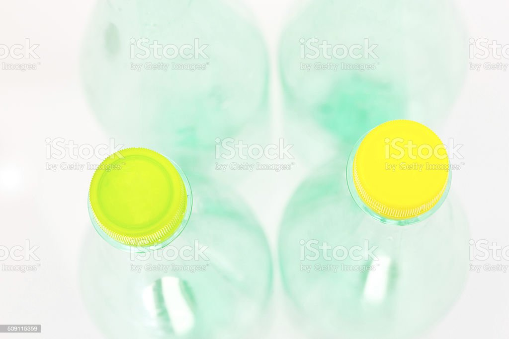 Plastic bottles isolated on white background royalty-free stock photo