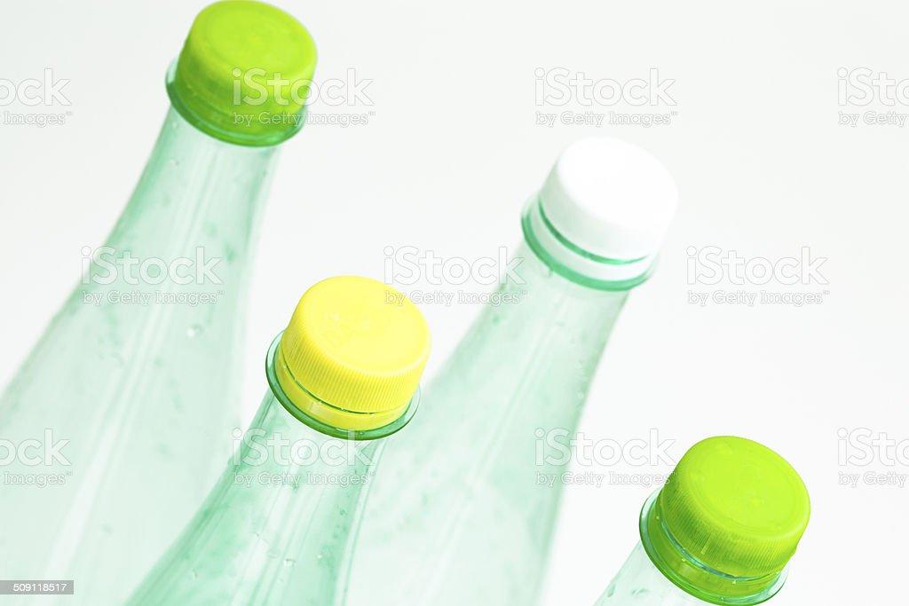 Plastic bottles isolated on white background royalty-free stock photo