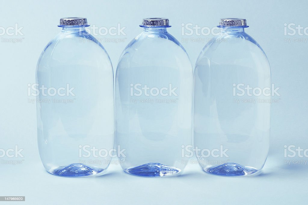 Plastic Bottles of Mineral water royalty-free stock photo