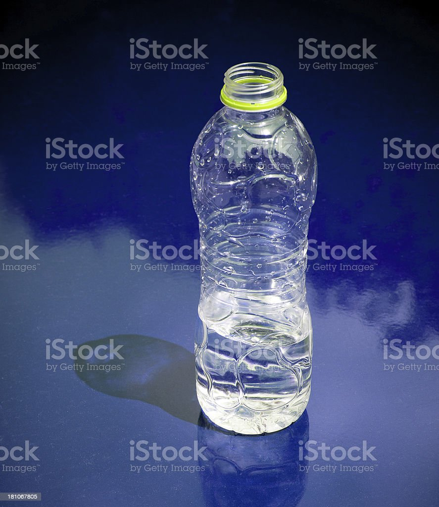 Plastic Bottles of Natural Water royalty-free stock photo