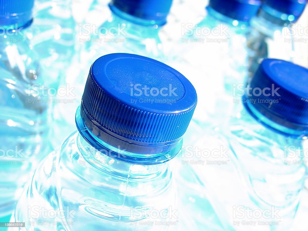 Plastic Bottles of Water royalty-free stock photo