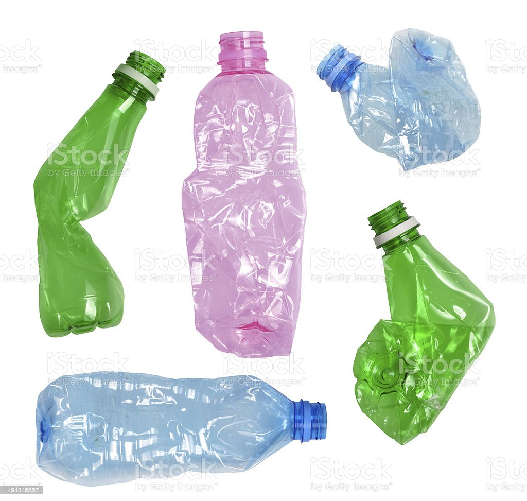 plastic bottles stock photo