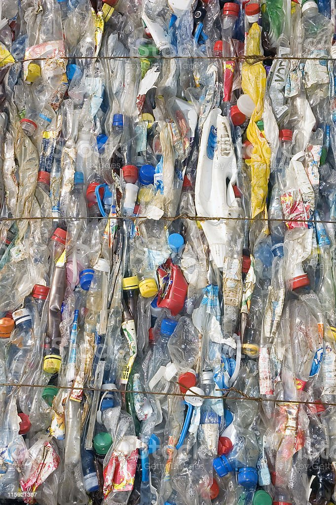 Plastic bottles ready for Recycling royalty-free stock photo