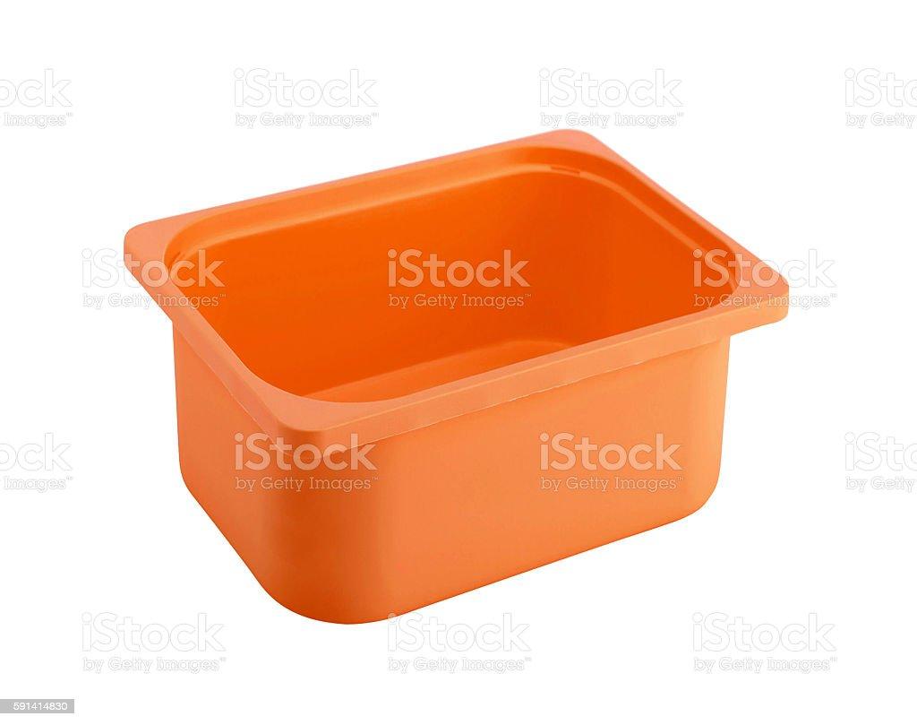 Plastic box stock photo