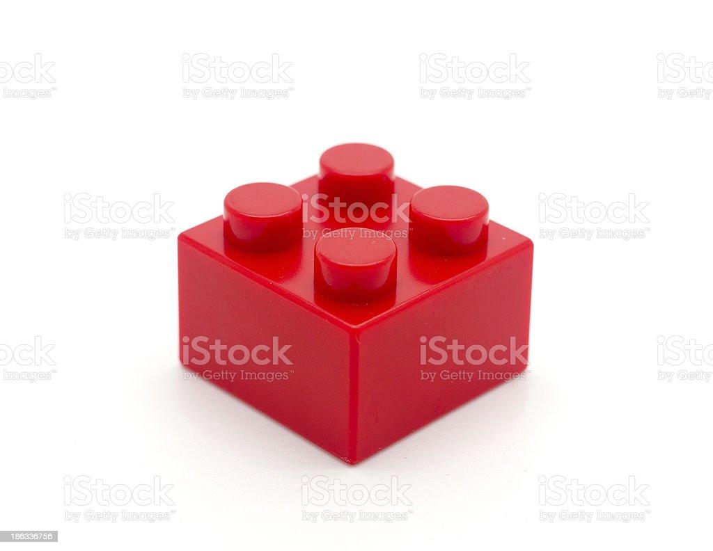 Plastic building blocks isolated on white background stock photo