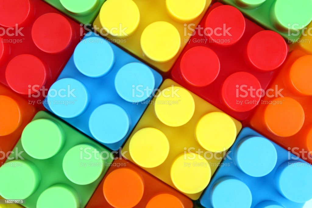 Plastic Building Blocks stock photo