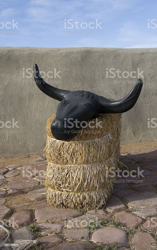 Plastic Bull Head stock photo