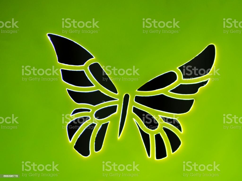Plastic butterfly stock photo
